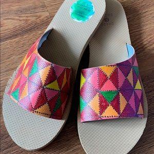 Custom paint on shade & shore slippers